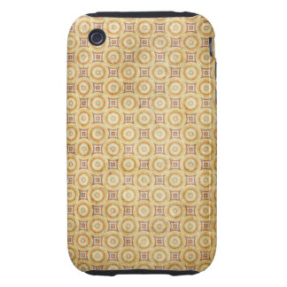 Retro Grunge Yellow Pattern iPhone 3 Tough Cases