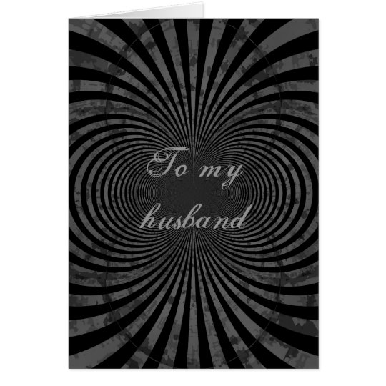 Retro grungy stripes for husband card