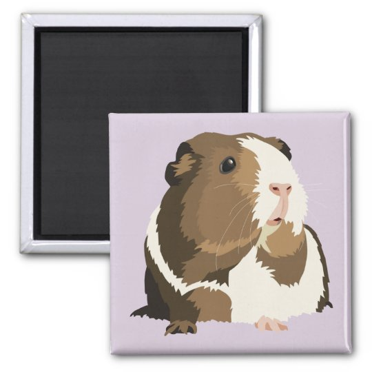 Retro Guinea Pig 'Betty' Fridge Magnet