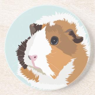 Retro Guinea Pig 'Elsie' Coaster