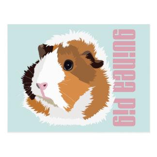 Retro Guinea Pig 'Elsie' Postcard