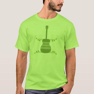 Retro Guitar Men's Shirt, Olive Green T-Shirt
