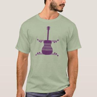 Retro Guitar Men's Shirt, Purple T-Shirt