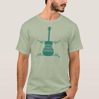 Retro Guitar Men's Shirt, Teal T-Shirt