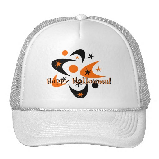 Retro Halloween Boomerang Starburst Trucker Hat