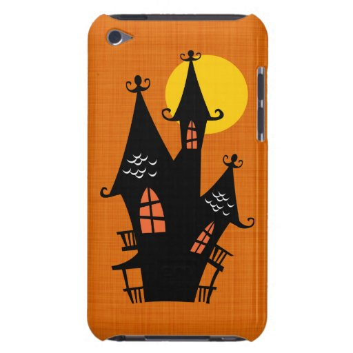 Retro Halloween Haunted House iPod Touch Cases