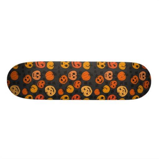 Retro Halloween Party Pumpkins Custom Skateboard