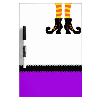 Retro Halloween Witch Dry Erase Board