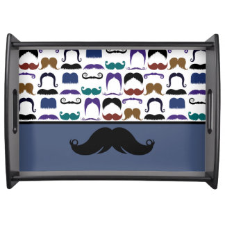 Retro Handlebar Mustache Moustache Stache Serving Tray