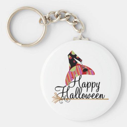 Retro Happy Halloween Keychain
