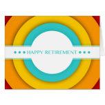 retro happy retirement big greeting card