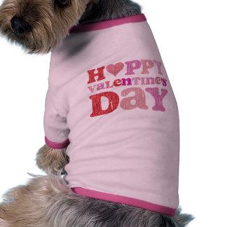 Retro Happy Valentine's Day Doggie Tee