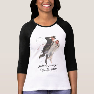 RETRO HAPPY WEDDING COUPLE DESIGN T-Shirt