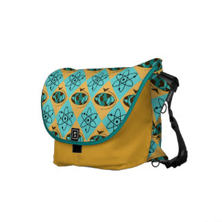 Retro Harlequin Globe Trotter Messenger Bag