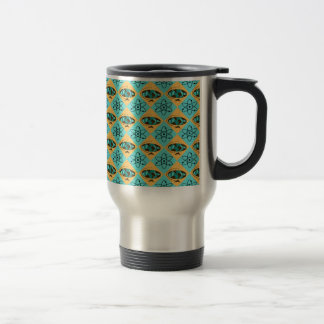 Retro Harlequin Globe Trotter Travel Mug