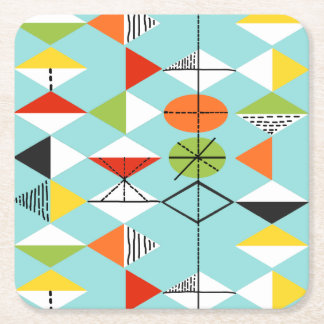 Retro Harlequin Pattern Coaster
