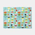 Retro Harlequin Pattern Door Mat
