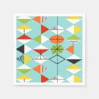 Retro Harlequin Pattern Paper Napkins Disposable Napkin