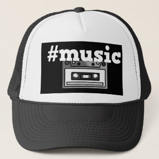 Retro Hashtag Music Tape Cassette Cap/Hat Trucker Hat
