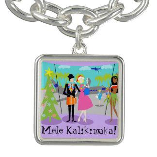 Retro Hawaiian Christmas Charm Bracelet