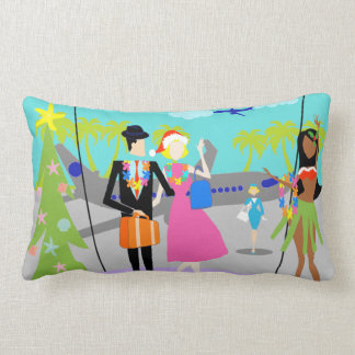 Retro Hawaiian Christmas Lumbar Pillow Cushion