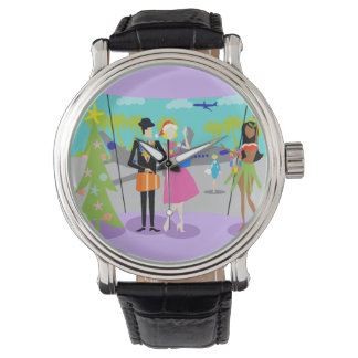 Retro Hawaiian Christmas Watch