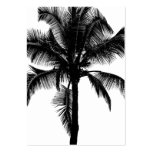 Retro Hawaiian Tropical Palm Tree Silhouette Black Pack Of Chubby Business Cards