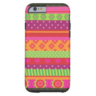 Retro heart flower polka dot design iPhone 6 case Tough iPhone 6 Case