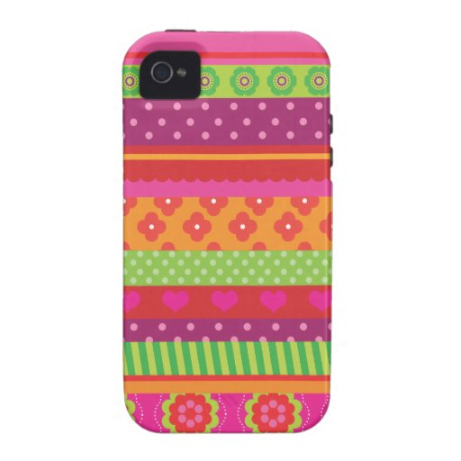 Retro heart flower polka dot design iphone case case for the iPhone 4
