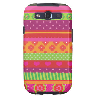 Retro heart flower polka dot design iphone case galaxy s3 cover