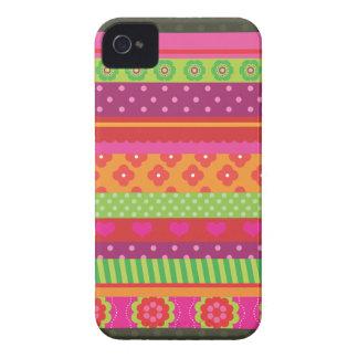 Retro heart flower polka dot design iphone case Case-Mate iPhone 4 case