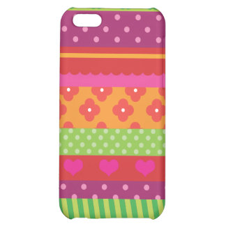 Retro heart flower red polka dot design iphone iPhone 5C covers