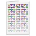 Retro Hearts Card