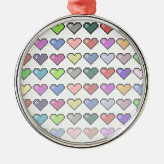 Retro Hearts Christmas Ornament