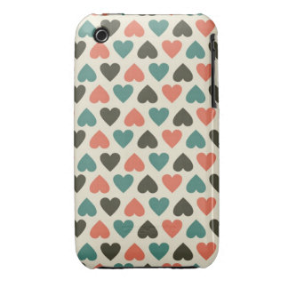 retro hearts iphone 3 speck case iPhone 3 cover