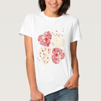 Retro Hearts Ladies Tops Tshirts