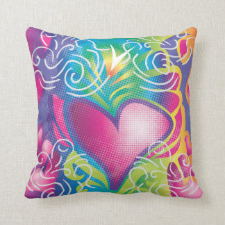 Retro Hearts Pillow
