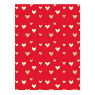 Retro hearts red hot candy stripes post cards
