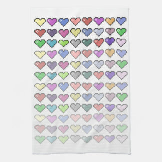 Retro Hearts Tea Towel