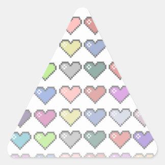 Retro Hearts Triangle Sticker