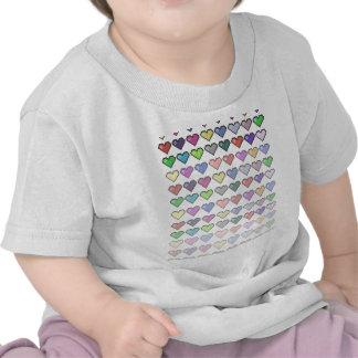 Retro Hearts T Shirt
