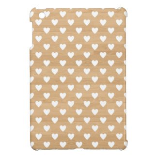 Retro hearts wood background girly heart pattern case for the iPad mini