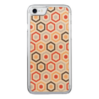 Retro hexagons carved iPhone 8/7 case