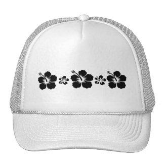 Retro Hibiscus Mesh Hats