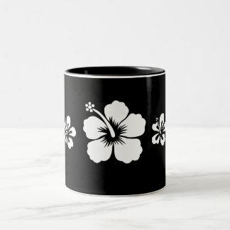 Retro Hibiscus Two-Tone Mug