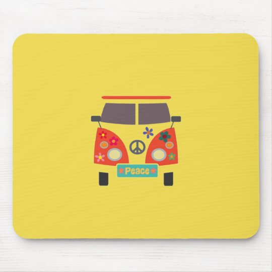 Retro Hippie Bus Mousepad