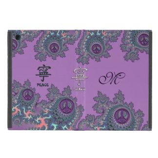 Retro Hippie Peace Fractal Personalized Cover For iPad Mini