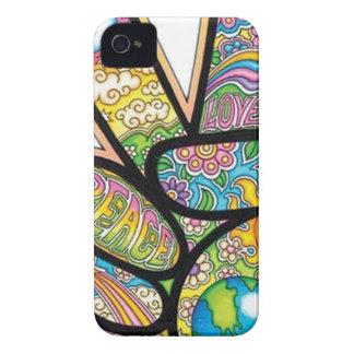 Retro Hippie Peace iPhone 4 Case-Mate Case
