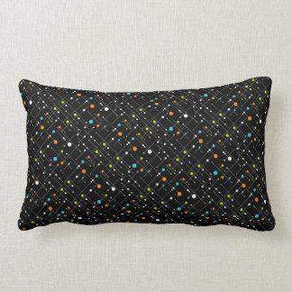 Retro Hipster Black Space Age Atomic Lumbar Lumbar Pillow