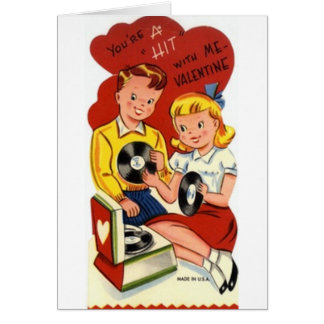 Retro Hit Records Valentine's Day Card
